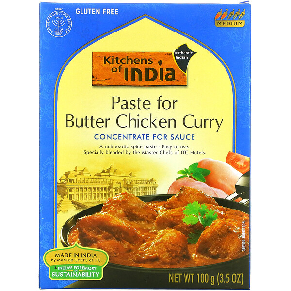 Paste For Butter Chicken Curry, Concentrate For Sauce, Medium, 3.5 oz (100 g)