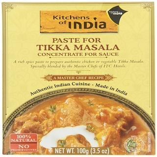 Kitchens of India, Curry Paste For Tikka Masala, 3.5 oz