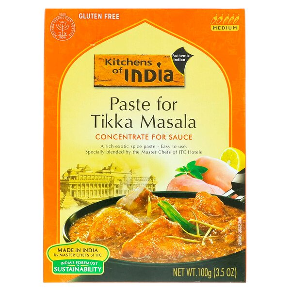 Paste For Tikka Masala, Concentrate For Sauce, Medium, 3.5 oz (100 g)