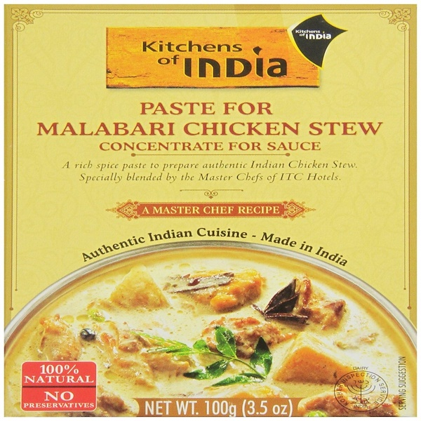 Kitchens of India, Paste For Malabari Chicken Stew, 3.5 oz  (100 g) (Discontinued Item)