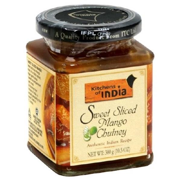 Kitchens of India, Sweet Sliced Mango Chutney, 10.5 oz (300 g)