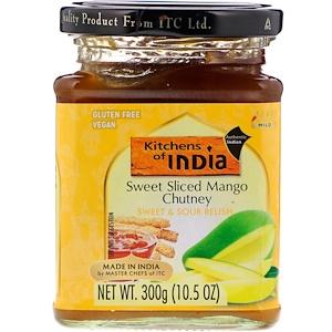 Китченс оф индия, Sweet Sliced Mango Chutney, Sweet & Sour Relish, Mild, 10.5 oz (300 g) отзывы