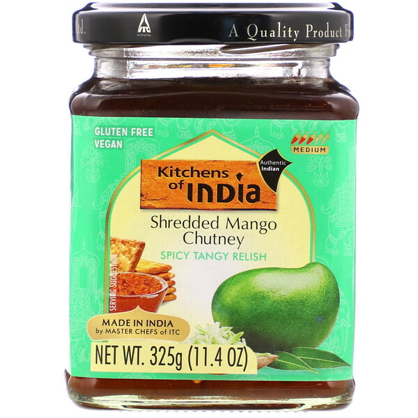 Kitchens of India, Shredded Mango Chutney, 11.4 oz (325 g)