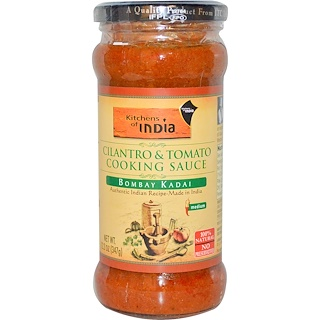 Kitchens of India, Cilantro & Tomato Cooking Sauce, Medium, 12.2 oz (347 g)