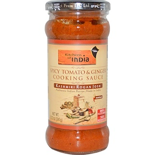 Kitchens of India, Spicy Tomato & Ginger Cooking Sauce, Medium, 12.2 oz (347 g)