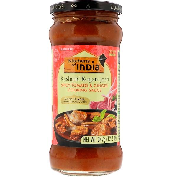 Kitchens of India, Пряный томатный соус с имбирем, средний, 12,2 унции (347 г) (Discontinued Item)