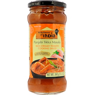 Kitchens of India, Punjabi Tikka Masala, Rich Creamy Tomato Cooking Sauce, Mild, 12.2 oz (347 g)