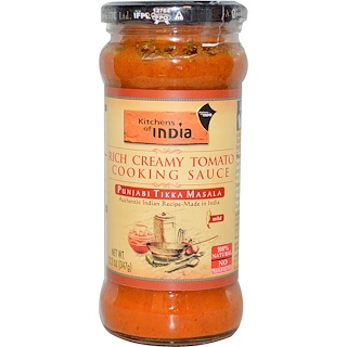 Kitchens of India, Rich Creamy Tomato Cooking Sauce, Mild, 12.2 oz (347 g)