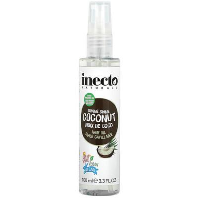 Inecto Divine Shine Coconut Hair Oil, 3.3 fl oz (100 ml)