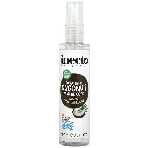 Divine Shine Coconut Hair Oil, 3.3 fl oz (100 ml)