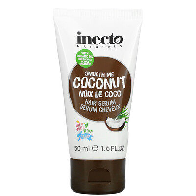 Inecto Smooth Me Coconut Hair Serum, 1.6 fl oz (50 ml)