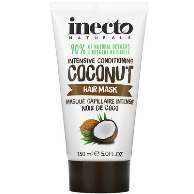 Inecto Intensive Conditioning Hair Mask, Coconut, 5.0 fl oz (150 ml)