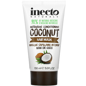 Inecto, Intensive Conditioning Hair Mask, Coconut, 5.0 fl oz (150 ml)