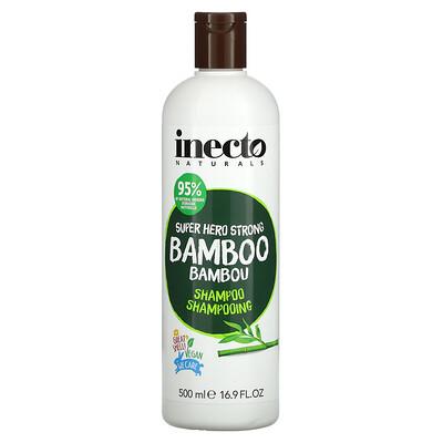 Купить Inecto Super Hero Strong Bamboo Shampoo, 16.9 fl oz (500 ml)