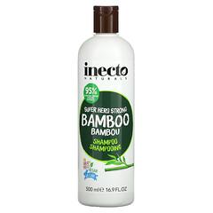 Inecto, 超級英雄強韌竹纖維洗發水,16.9 液量盎司(500 毫升)