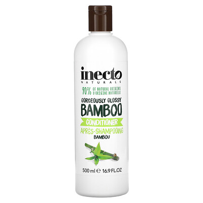Inecto Gorgeously Glossy Bamboo Conditioner, 16.9 fl oz (500 ml)