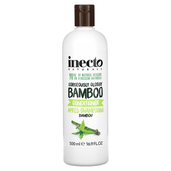 Inecto, Gorgeously Glossy Bamboo Conditioner, 16.9 fl oz (500 ml)