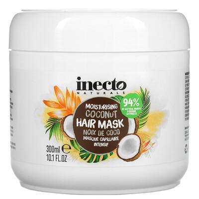 Inecto Moisturising Coconut Hair Mask, 10.1 fl oz (300 ml)