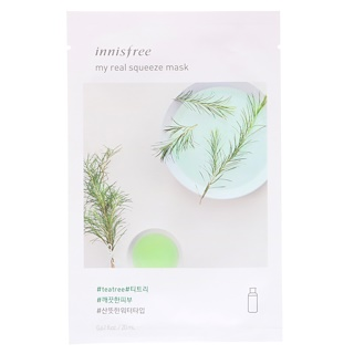 Innisfree, My Real Squeeze Mask, Tea Tree, 1 Sheet