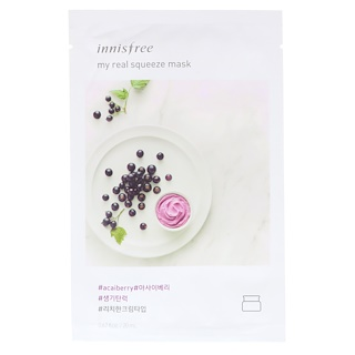 Innisfree, My Real Squeeze Mask, Acai Berry, 1 Tuch
