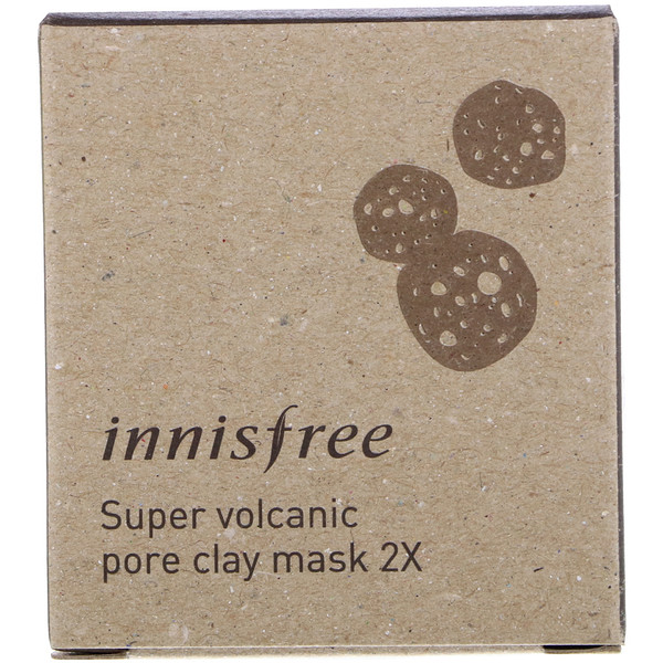 Innisfree, Super Volcanic Pore Clay Mask 2X, 3.38 oz (100 ml)