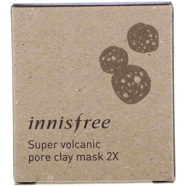 Innisfree, Super Volcanic Pore Clay Mask 2X, 3.38 oz (100 ml) (Discontinued Item)