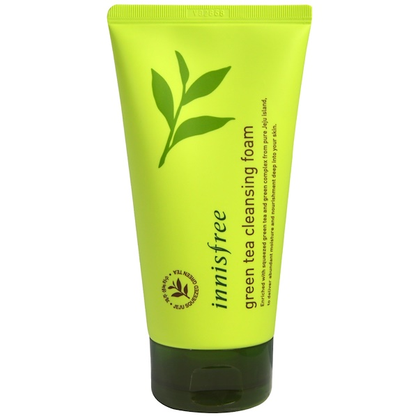 Innisfree, Green Tea Cleansing Foam, 150 ml (Discontinued Item)