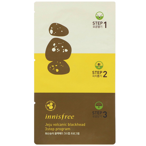 Innisfree, Jeju Volcanic Blackhead 3 Step Program, 3 Masks (Discontinued Item)