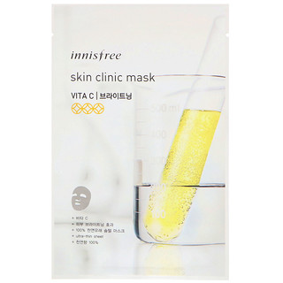 Innisfree, Skin Clinic Mask, Vita C, 1 Sheet