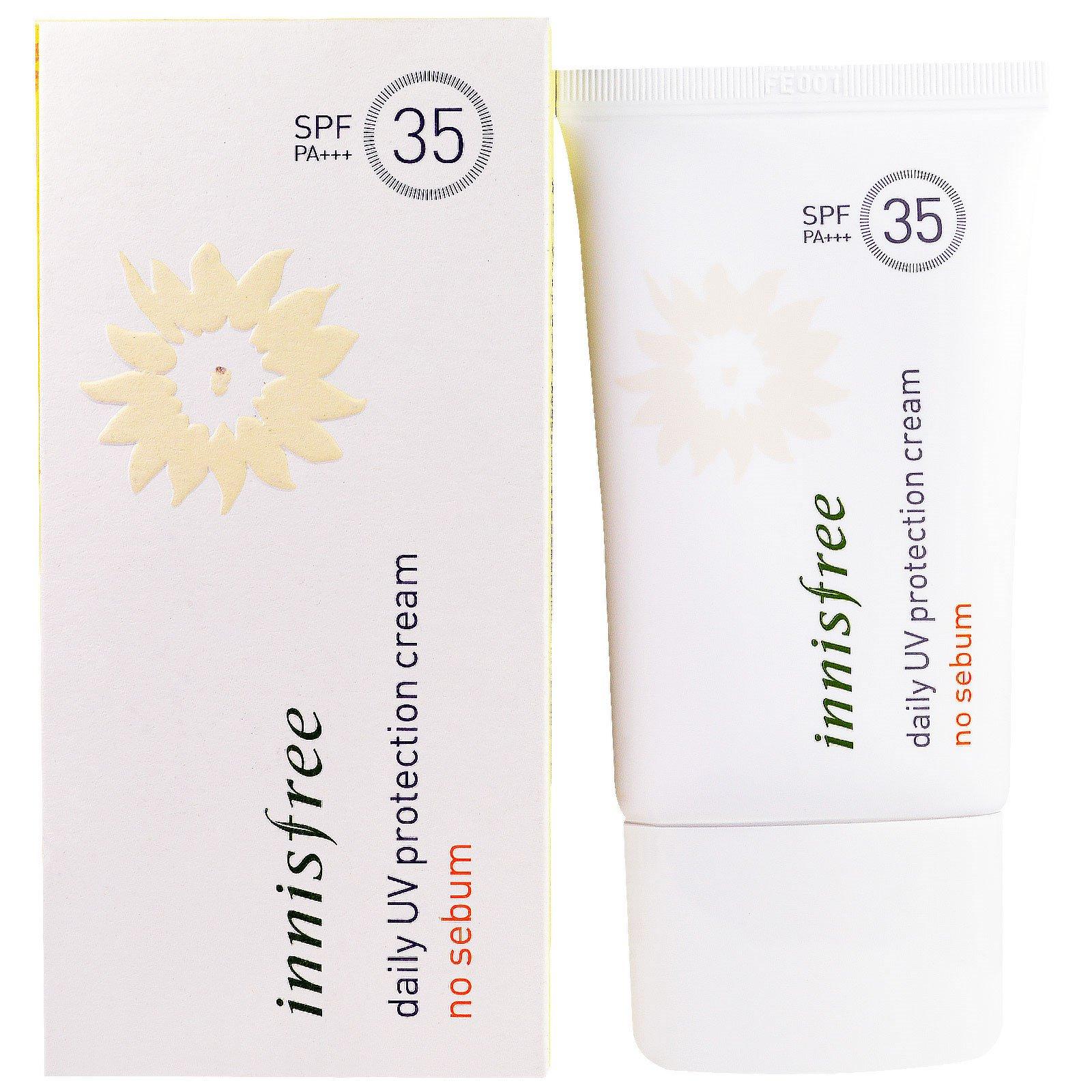Innisfree, Ежедневный крем для защиты от УФ-излучения, SPF35 PA+++ , 50мл