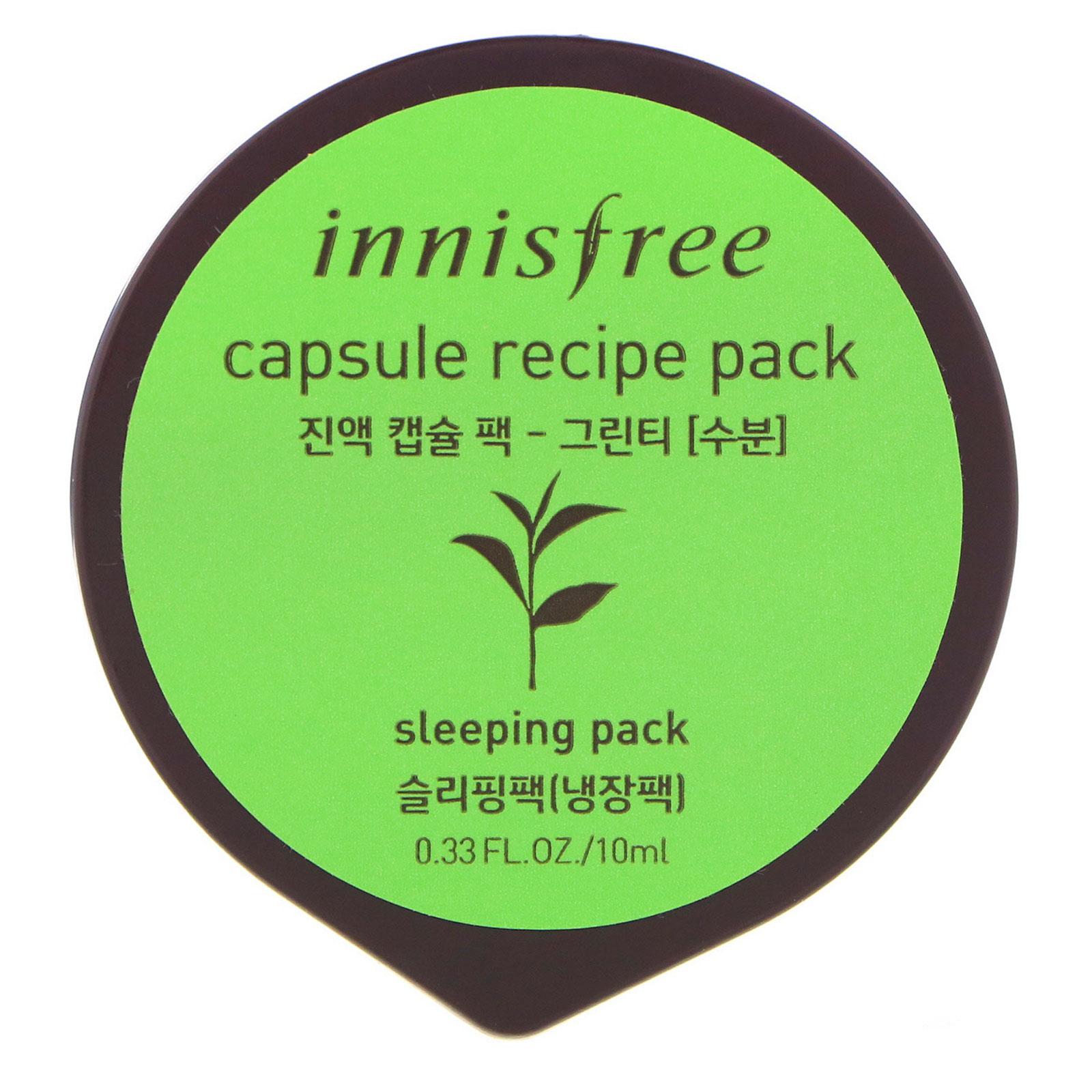 Innisfree Capsule Recipe Pack Green Tea 033 Fl Oz 10 Ml Sleeping