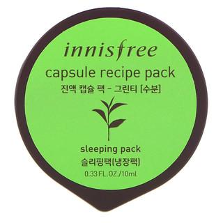 Innisfree, カプセルレシピパック、緑茶、0.33 fl oz (10 ml)