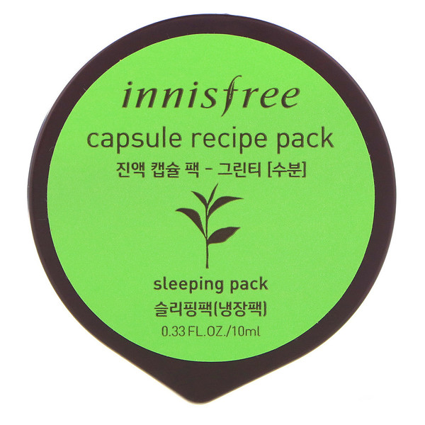 Innisfree, Capsule Recipe Pack, Green Tea, 0.33 fl oz (10 ml) (Discontinued Item)