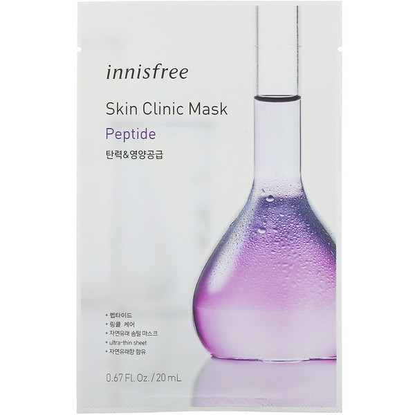 Skin Clinic Mask, Peptide, 1 Sheet, 0.67 fl oz (20 ml)
