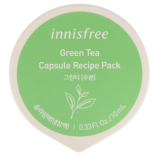 Innisfree, Capsule Recipe Pack, Green Tea, 0.33 fl oz (10 ml)
