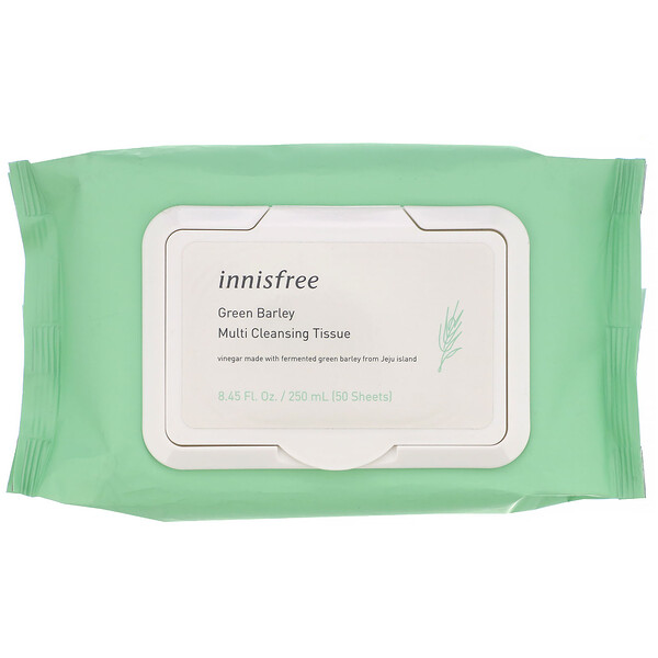 Green Barley, Multi-Cleansing Tissue, 50 Sheets, 8.45 fl oz (250 ml)