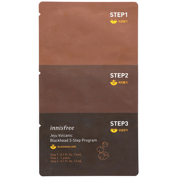 Innisfree, Jeju Volcanic Blackhead 3-Step Program, 1 Set