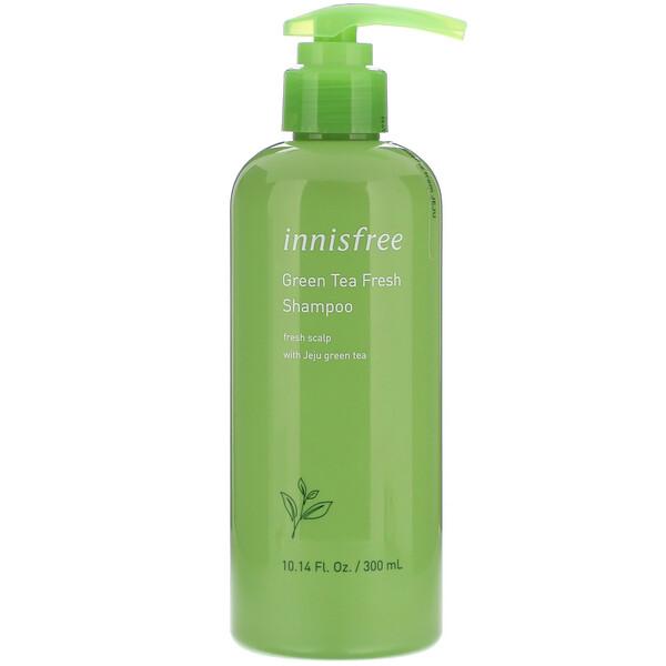 Innisfree, 綠茶清新洗髮水,10.14 液量盎司(300 毫升)