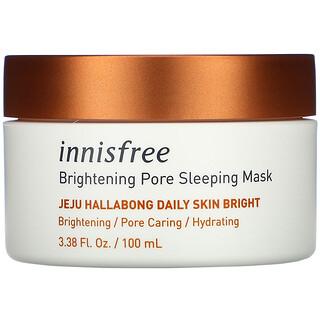 Innisfree, Jeju Hallabong Daily Skin Bright, Brightening Pore Sleeping Mask, 3.38 fl oz (100 ml)