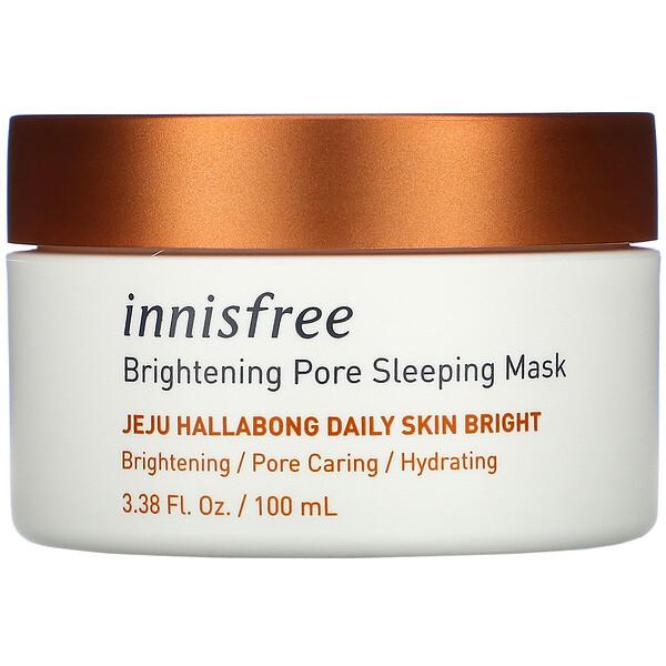 Jeju Hallabong Daily Skin Bright, Brightening Pore Sleeping Mask, 3.38 fl oz (100 ml)