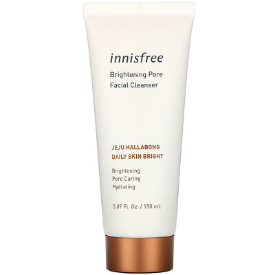 Купить Innisfree Jeju Hallabong Daily Skin Bright, Brightening Pore Facial Cleanser, 5.07 fl oz (150 ml)