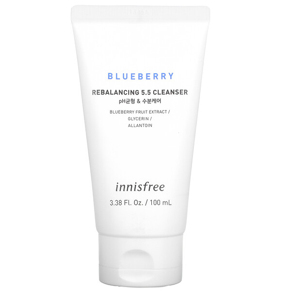 Innisfree, Rebalancing 5.5 Cleanser, Blueberry, 3.38 fl oz (100 ml)
