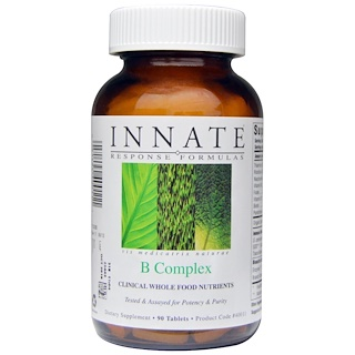 Innate Response Formulas, Complejo B, 90 tabletas