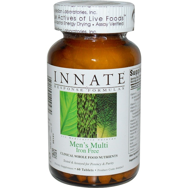 Innate Response Formulas, Men's Multi, Iron Free, 60 Tablets (Discontinued Item)