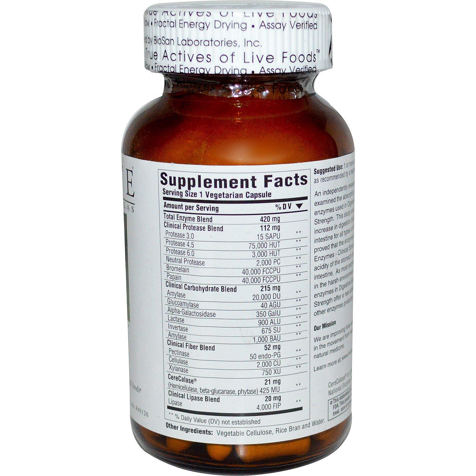 Innate response digestive enzymes