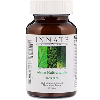 Innate Response Formulas, Men's Multivitamin, Iron Free, 60 Tablets