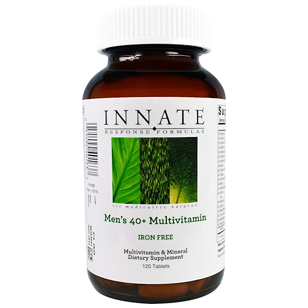 Innate Response Formulas, Men's 40+ Multivitamins, Iron Free, 120 Tablets
