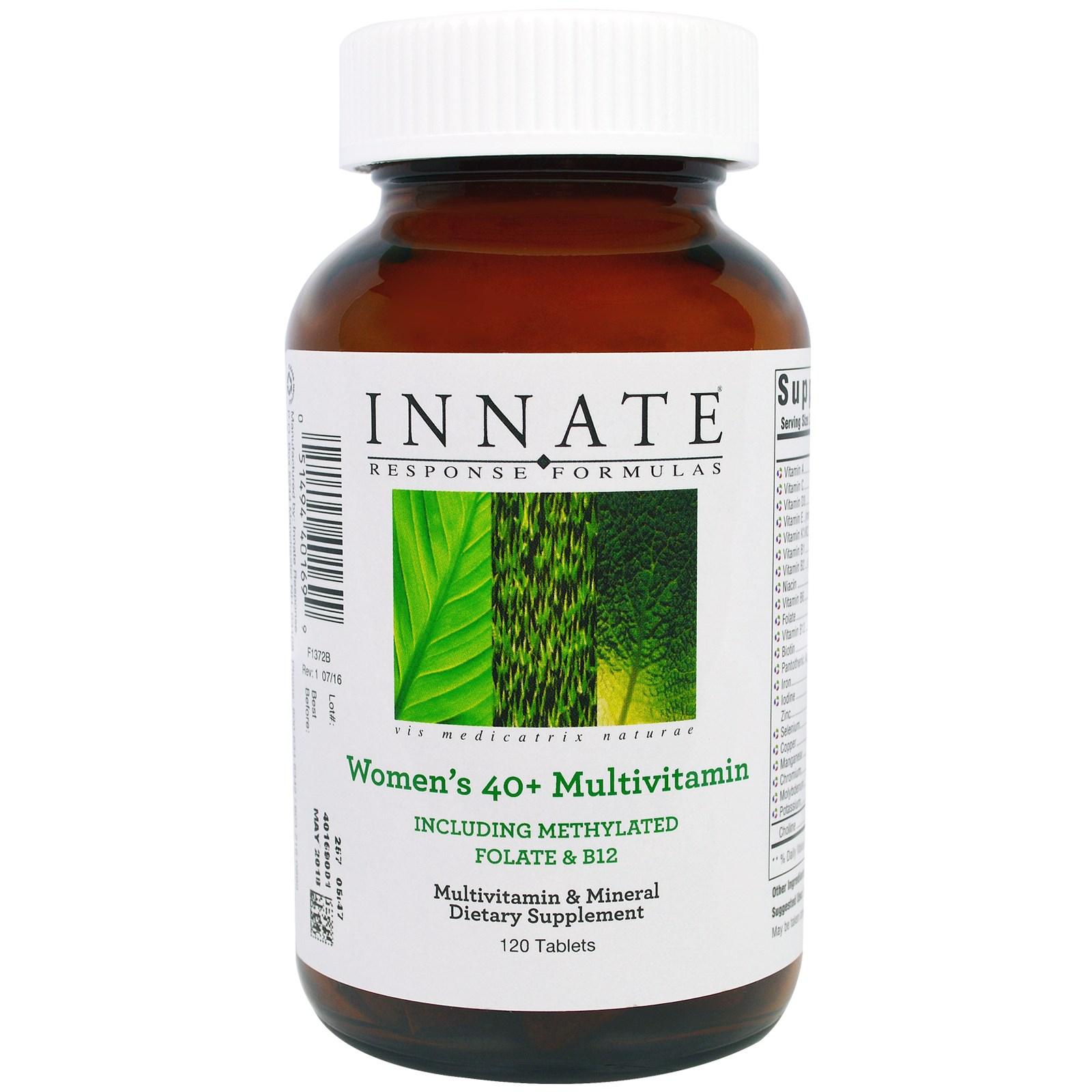 Innate Response Formulas, Мультивитаминный комплекс для женщин 40+, 120 таблеток