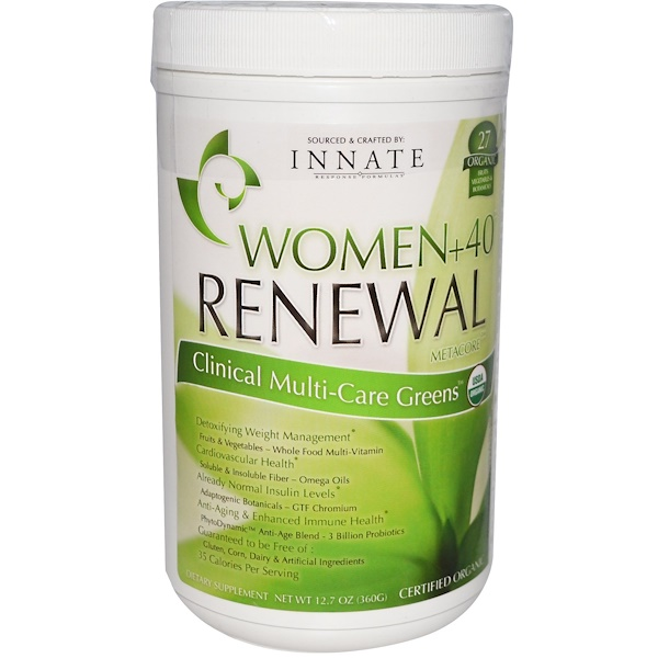 Innate Response Formulas, Women+40 Renewal, MetaCore, Clinical Multi-Care Greens, 12.7 oz (360 g) (Discontinued Item)