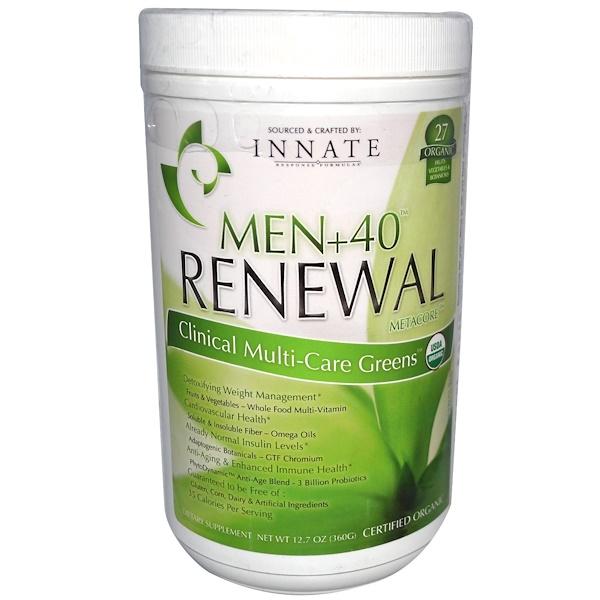 Innate Response Formulas, Men+40 Renewal, MetaCore, Clinical Multi-Care Greens, 12.7 oz (360 g) (Discontinued Item)